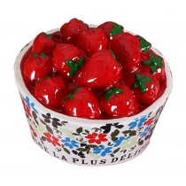 Strawberry Bowl Simulation of Physical Resin Refrigerator Magnets