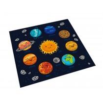 Square Cute Cartoon Children's Rugs,Cosmic planet