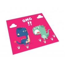 Square Cute Cartoon Children's Rugs,Red dinosaur