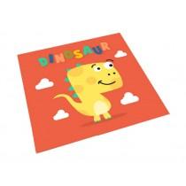 Square Cute Cartoon Children's Rugs,Goofy Dinosaur