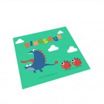 Square Cute Cartoon Children's Rugs,Big mouth dinosaur