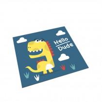 Square Cute Cartoon Children's Rugs,hello dinosaur