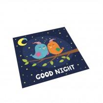 Square Cute Cartoon Children's Rugs,Good night birdie