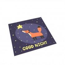 Square Cute Cartoon Children's Rugs,Playful fox
