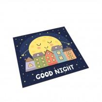 Square Cute Cartoon Children's Rugs, Good Night Moon house A