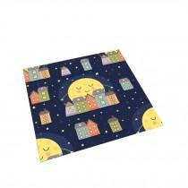 Square Cute Cartoon Children's Rugs, Good Night Moon house B