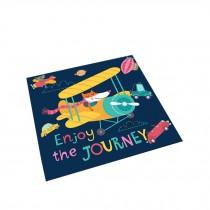 Square Cute Cartoon Children's Rugs, Gray flying fox