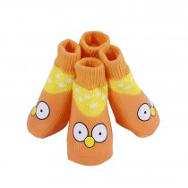 Lovely Chicken Pattern Cats/Dogs Anti Slip Warm Breathable Socks