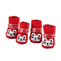 Cute Red Panda Shoes for Puppy/Teddy/Poodle Pet Socks