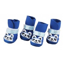 Lovely Blue Panda Shoes for Teddy Small Dogs Pet Supplies