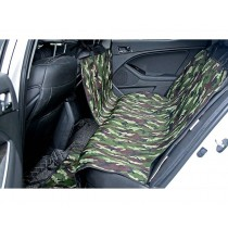 Waterproof Pet Car Seat Cover for Dogs - Green Camouflage