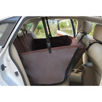 WaterProof Pet Back Seat Cover for Cars - Coffee