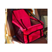 Car Hanging Basket Car Sear Cover for Pets - Red