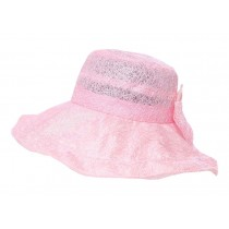 Pink Women's Wide Brim Sun Protection Hat