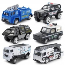 Children's toy military vehicle toy model car special police team 6 sets