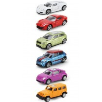 Children's toy military car toy model car luxury car 6 piece set