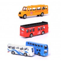 Children's toy military car toy model car bus car set of 4