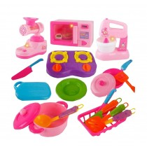 Pretend Play Food Toy Plastic Kitchen Toy Set for Kid