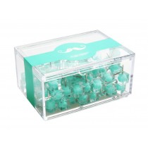 Creative Push Pins Office Thumb Tacks Decorative Pushpins 80Pcs Mint Green Clear