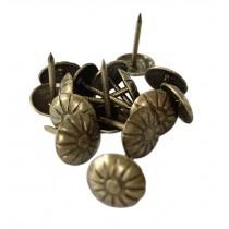 Retro Flower Push Pins Decorative Thumbtacks Sofa/Beds/Craftwork Bronze Tacks