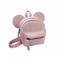 Retro Pink Ear Toddler Backpack Kindergarten Bag Travel Kids Backpacks Purse