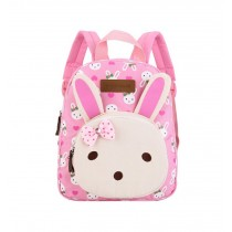 Cute Rabbit Kids School Bag Toddler Backpack Camping Canvas Backpacks Purse Pink