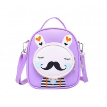 Kids Moustache Rabbit School Bag Cute Travel Shoulder Bag Backpack Purses Purpel