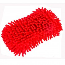Sponge With Scrubber, Perfect For Car, Set Of 2, Red