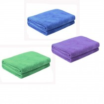 Multifunctional Microfiber Cleaning Cloths, Set of 3, Blue/Purple/Green