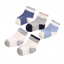 Wear Durable Cotton Socks Heartwarming Baby Gifts 5 Pairs of Soft Socks Comfortable