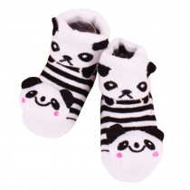 2 Pairs of Cozy  Baby Cotton Socks Baby Gifts Comfortable Socks Heartwarming Baby Gifts, panda