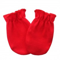 Warm Unisex-Baby Gloves Newborn Mittens Soft No Scratch Mittens, Red