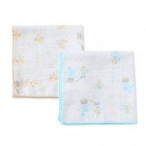 Set of 2 Baby Handkerchiefs Small Squares Gauze Cloth Handkerchief