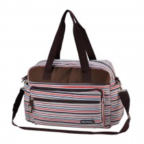 Smart Big Capacity Functional Diaper Bags For Mummy  Strips Red (42*31*15cm)