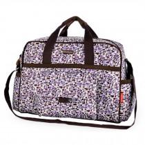 Colorful Big Capacity Functional Diaper Bags??Purple (43*16*33cm)
