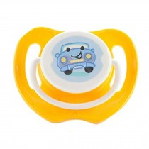 Lovely Cartoon Free Nighttime Infant Pacifier, Car,Yellow