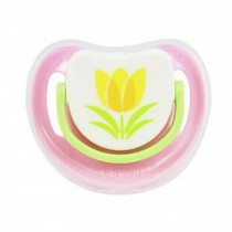 Lovely Cartoon Free Nighttime Infant Pacifier,Tulip,Pink