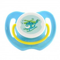 Lovely Cartoon Free Nighttime Infant Pacifier,Helicopter,Blue