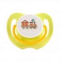 Lovely Cartoon Free Nighttime Infant Pacifier,Mini-Train,Yellow
