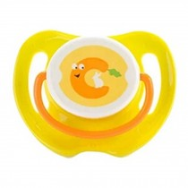 Lovely Cartoon Free Nighttime Infant Pacifier,Carrot,Yellow