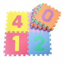 Colorful Waterproof Baby Foam Playmat Set-10pc, Number