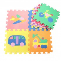 Colorful Waterproof Baby Foam Playmat Set-9pc, Cars