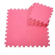 Quality Waterproof Baby Foam Playmat Set-9pc /Rose Red