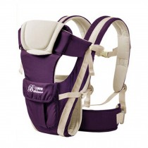 Soft Polyester Baby Carrier Best Child Baby Backpack Cotton belt Purple