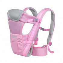Soft Polyester Baby Carrier Child Baby Holding Belt Breathe Freely Pink