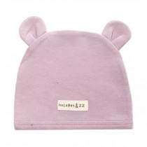 Soft Infant/Toddler Hat Cute Rabbit Hat Pure Cotton Sleep Cap,Purple