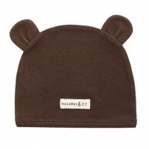 Soft Infant/Toddler Hat Cute Rabbit Hat Pure Cotton Sleep Cap,Brown