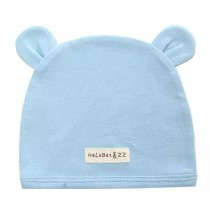 Soft Infant/Toddler Hat Cute Rabbit Hat Pure Cotton Sleep Cap,Blue