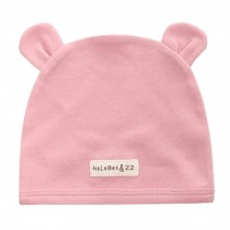 Soft Infant/Toddler Hat Cute Rabbit Hat Pure Cotton Sleep Cap, Pink