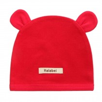 Soft Infant/Toddler Hat Cute Rabbit Hat Pure Cotton Sleep Cap, Red